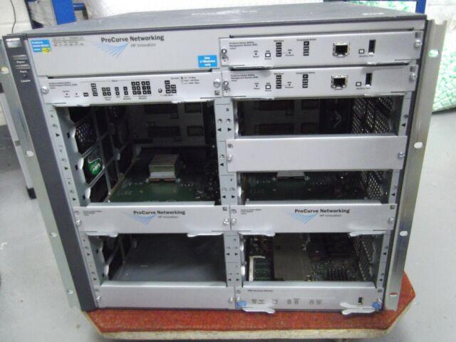 Hp Procurve 8212ZL Interrupteur J9091A avec 1 X PSU J8713A + Modules