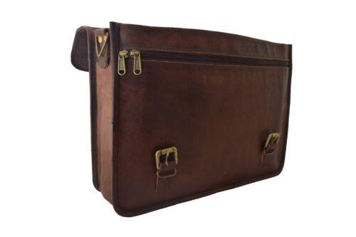 """Real Leather Briefcase Messenger Bag 15.6/"""" Laptop Satchel Business Shoulder Bag"""