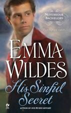 His Sinful Secret: Notorious Bachelors Wildes, Emma Mass Market Paperback