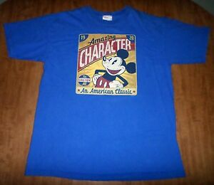 Mickey mouse lrg t shirt disney throwback 1928 tee for American classic house mouse