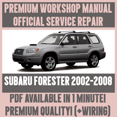 2002 subaru forester wiring diagram workshop manual service   repair guide for subaru forester 2002  workshop manual service   repair guide