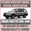 WIRING *WORKSHOP MANUAL SERVICE /& REPAIR GUIDE for SUBARU FORESTER 2002-2008
