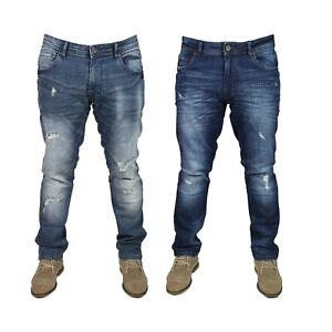 DML-Mens-Raider-Slim-Fit-Stretch-Denim-Jeans-Pants-Blue-Waist-Sizes-28-38