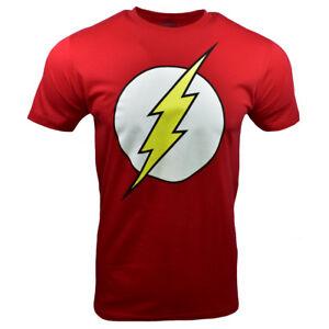 The-Flash-Men-039-s-T-shirt-Logo-DC-Comics-Universe-RED-100-cotton-M-L-XL-2XL