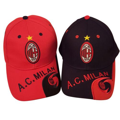 2 Stücke rot und schwarz Fußballverein AC Milan Baseball unisex Kappe