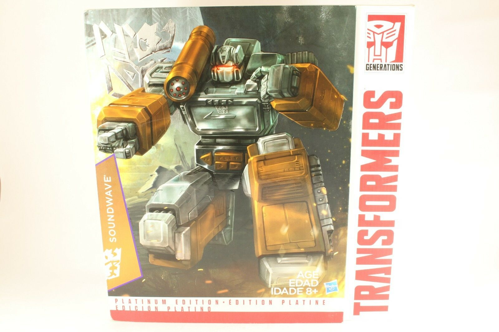 Transformers Masterpiece Year Of The Goat Soundwave No Cassettes Platinum