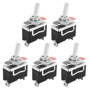 5xInterruttore-a-leva-Unipolare-ON-OFF-250V-15A-Switch-Levetta-Impermeabile-Auto