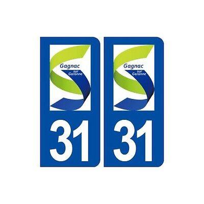 31 Gagnac Sur Garonne Logo Ville Autocollant Plaque Stickers Arrondis