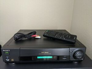 REFURBISHED-Sony-SLV-720HF-VCR-VHS-Player-w-Remote-Cables-HiFi-Audio-VCR-Plus