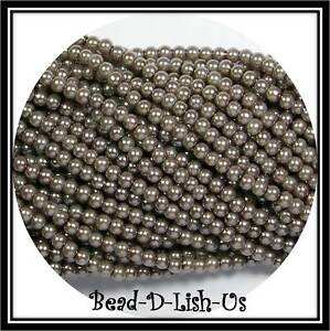 Black jewellery making over 200 beads craft 4mm Glass faux Pearls strand