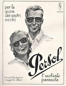 Persol Da Golia Ratti Pubblicita' 1940 Occhiali Sole Torino Donna doCerBx