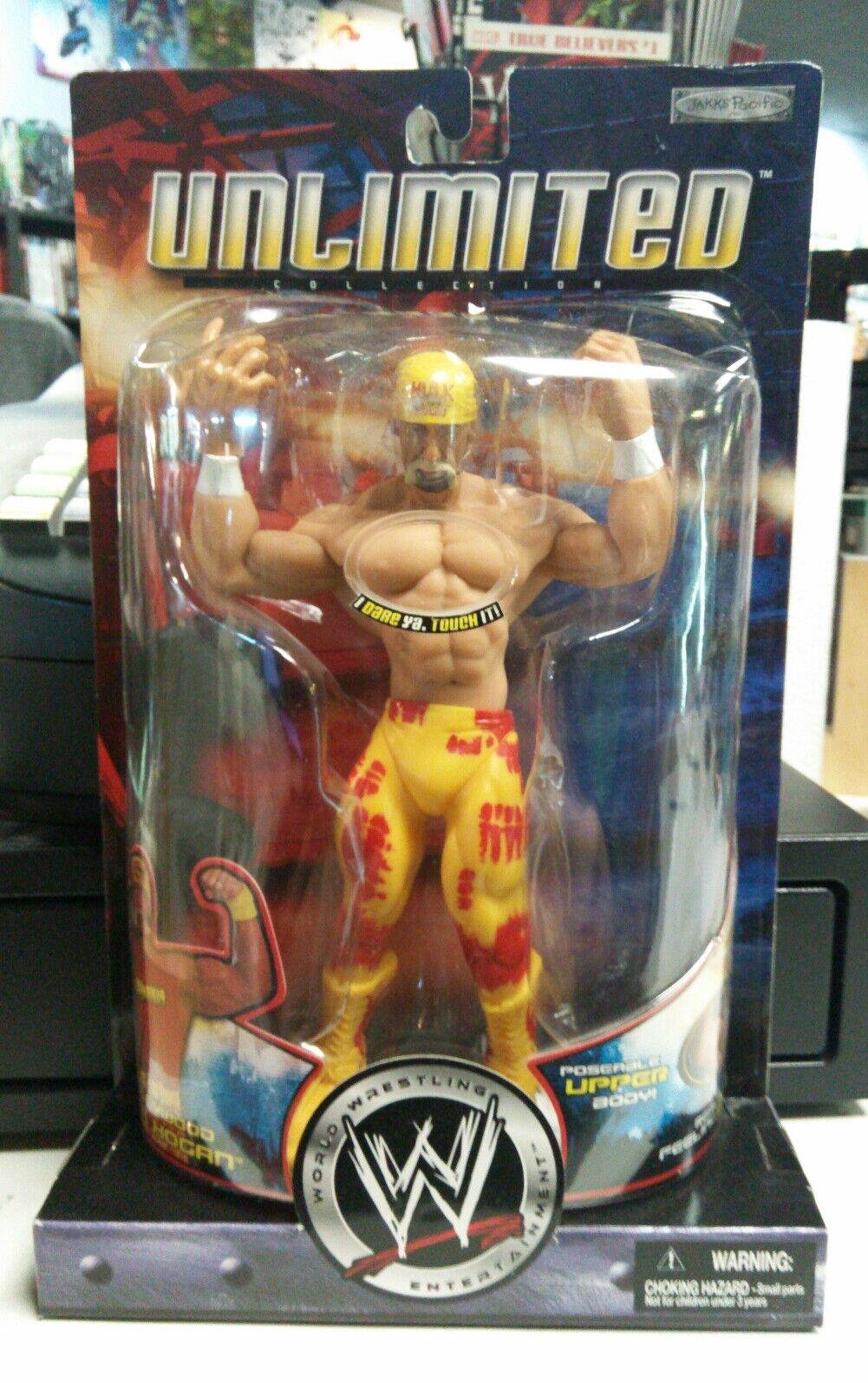 WWE WWF Unlimited Hollywood Hulk Hogan Wrestling Figure Jakks Pacific Nuovo MOC