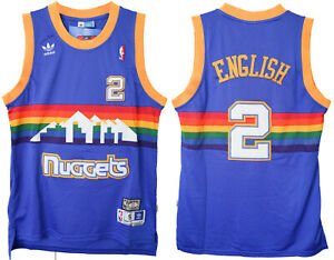 reputable site 2d5d6 c2701 Details about Alex English #2 Denver Nuggets Mens adidas Royal Classic  Throwback Jersey