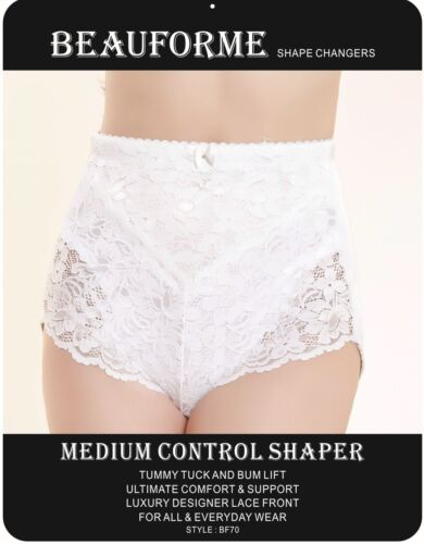 LACE TUMMY TUCK /& BUM LIFT MEDIUM CONTROL SLIMMING SHAPEWEAR KNICKER BEAUFORME