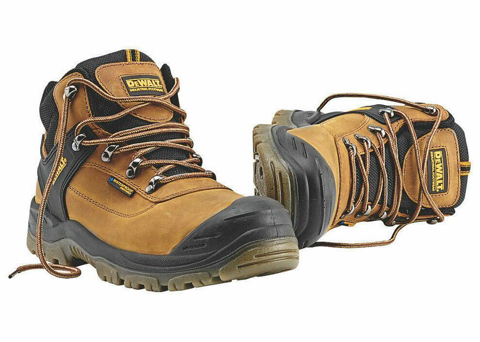 NEW Mens Größe 7-12 DeWalt Safety Work Stiefel Waterproof Steel Toe Cap braun schuhe