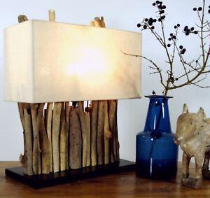 Tisch Lampe Stand Dekoleuchte Lampe Aus Treibholz 40 X 35 Cm