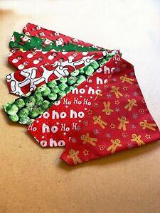 Christmas-Dog-Bandana-Gift-Neckerchief-Slide-on-Collar-Neck-Tie-Present-Various
