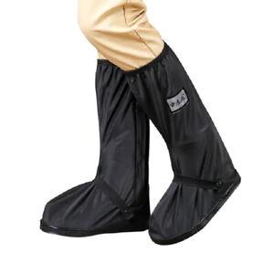 Motorcycle Bike Overshoe Reusable Anti-slip Rain Boot Waterproof Shoes Cover US