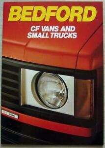 BEDFORD CF VANS & SMALL TRUCKS Sales Brochure Oct 1982 #B2055/10/82