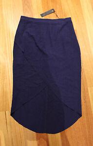 FATE-Blue-Gracen-Wrap-Skirt-Size-12-New