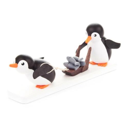 FIGUR Pinguin Fischhändler NEU Erzgebirge Tiere Eis Schnee Winter Meer Wasser