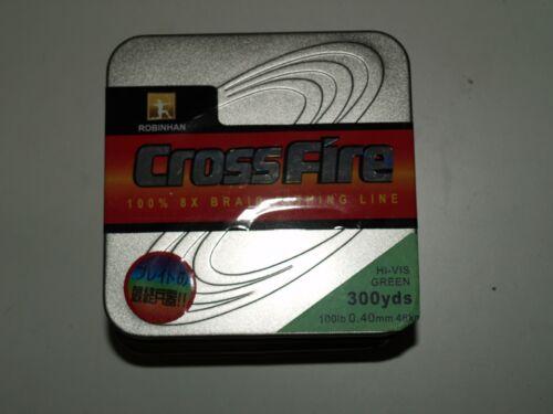 80lb 100lb Green Japanese CROSSFIRE Braid 8 strand//ply 50lb