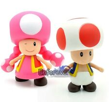 "Lot 2 New Super Mario Bros 3.5-4"" Mario TOADETTE Cute Action Figure Toy^MR72"