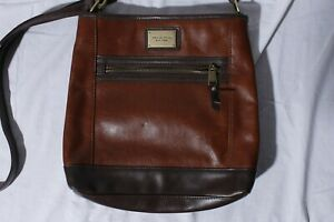 Tignanello-Brown-Genuine-Leather-Purse-Shoulder-Bag-RFID-Protected