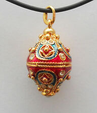 Faberge Egg Pendant Turkish Red