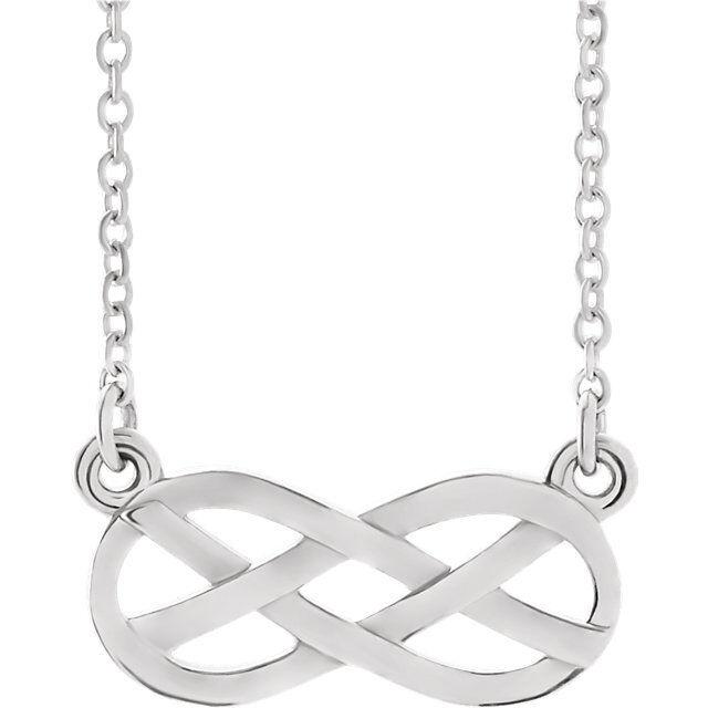 Infinity-Inspired Infinity-Inspired Infinity-Inspired Nodo Design 18   Collana in Platino a16b61