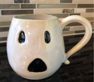 06082f69656 NWT Pottery Barn Set/4 ~GHOST~ SHAPED Ceramic COFFEE MUGS ~HALLOWEEN ...