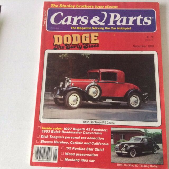 Cars Parts Magazine 1932 Frontenac Rs Coupe December 1981 052917nonrh For Sale Online Ebay