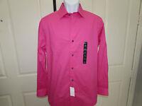 W/tag-men's Apt. 9 Pink Stretch Extra Slim Fit Dress Shirt 16 32/33