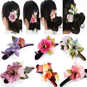 Fashion Girls Women Flower Metal Hair Clip Hairpin Barrette Pin Hair Accessories