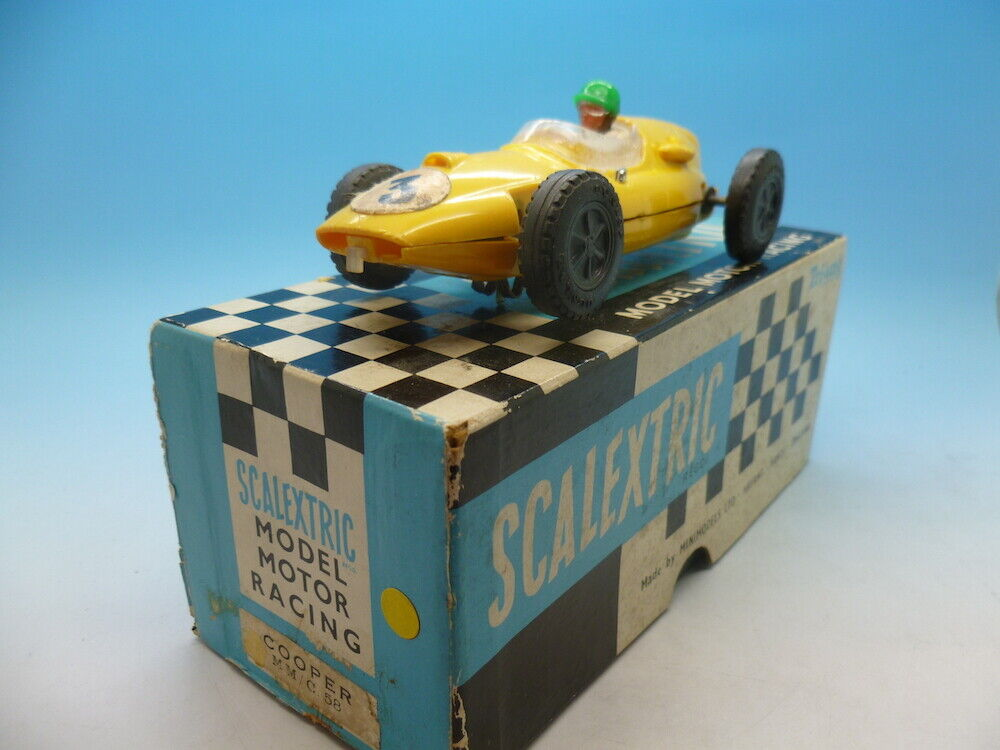 Scalextric C58 Cooper in Yellow no marks and boxed