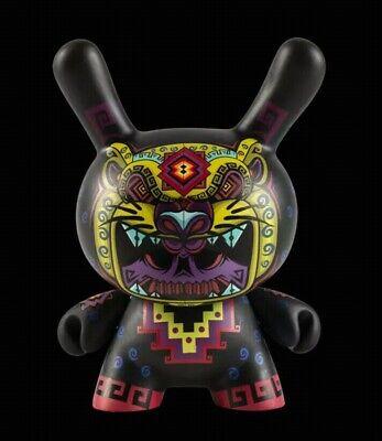 """Kid Robot 5/"""" Jesse Hernandez Cosmic Jaguar Skull Dunny Exclusive Urban Aztec"""