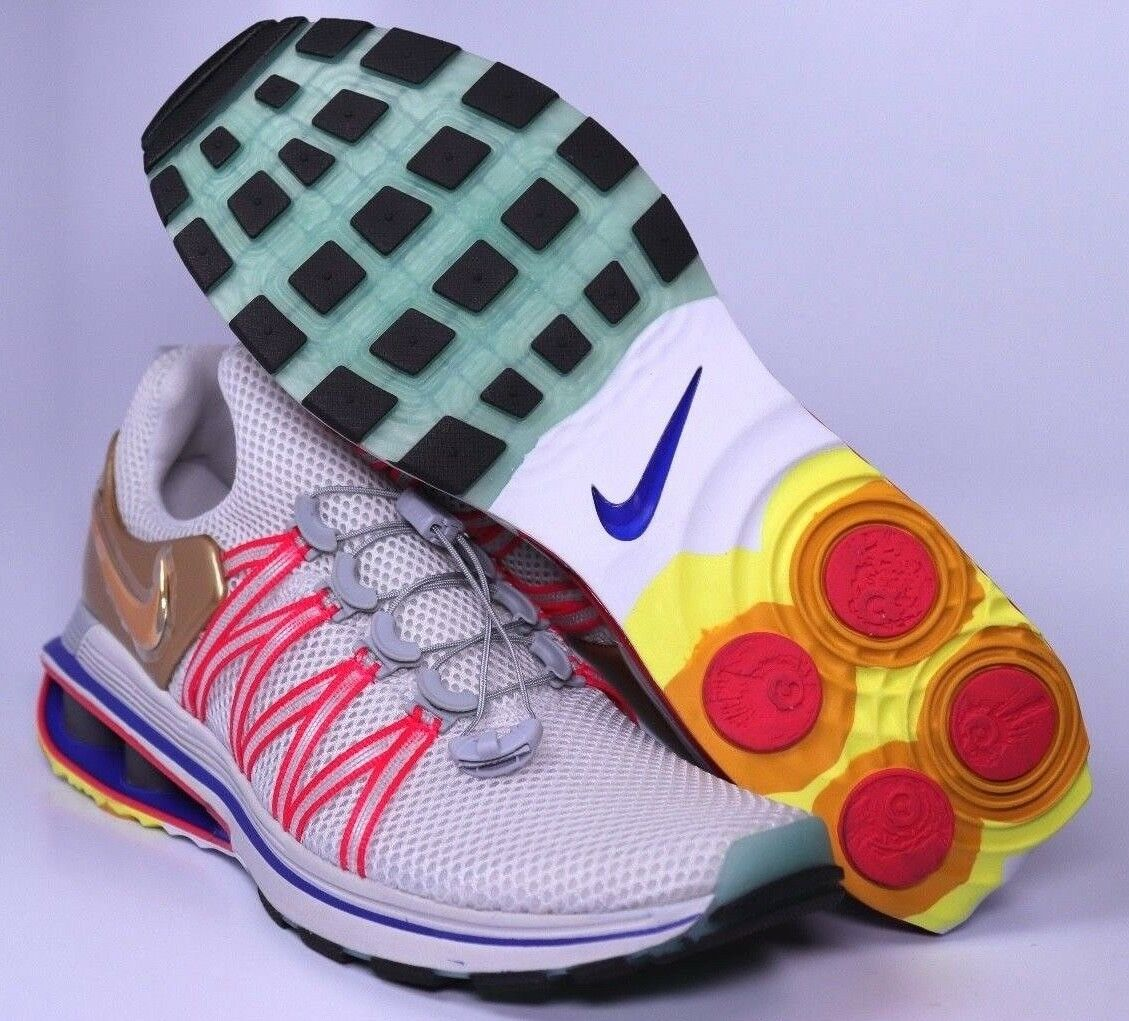 Nike Shox Gravity Metallic Gold Mens Running schuhe Größe 8 9.5 10 10.5 AQ8553-009