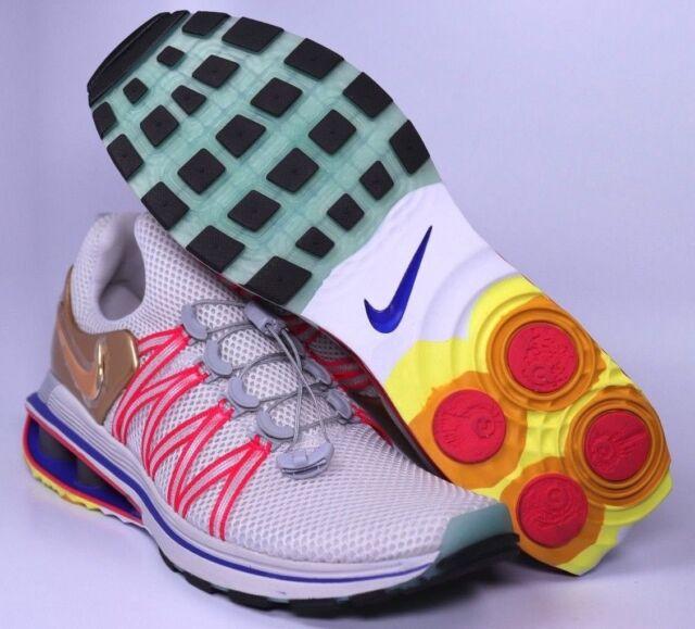 5df017b2878 Nike Shox Gravity Metallic Gold Mens Running Shoes Size 8 9.5 10 10.5 AQ8553 -009