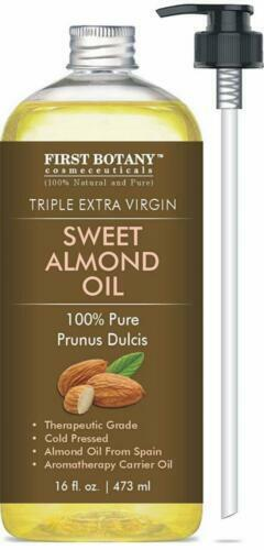 Sweet Almond Oil 16oz AAA Grade Extra Virgin for Hair Skin Face With  Vitamins for sale online   eBay