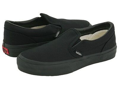 highly coveted range of outlet store hot-selling professional Vans Slip On All Black Canvas Skates Mens Womens Shoes 100% Authentic All  Sizes | eBay