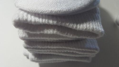 Diabetic Socks CREW White 6 Pair Sz 10-13 Healthy Circulation Buruka Non Bind