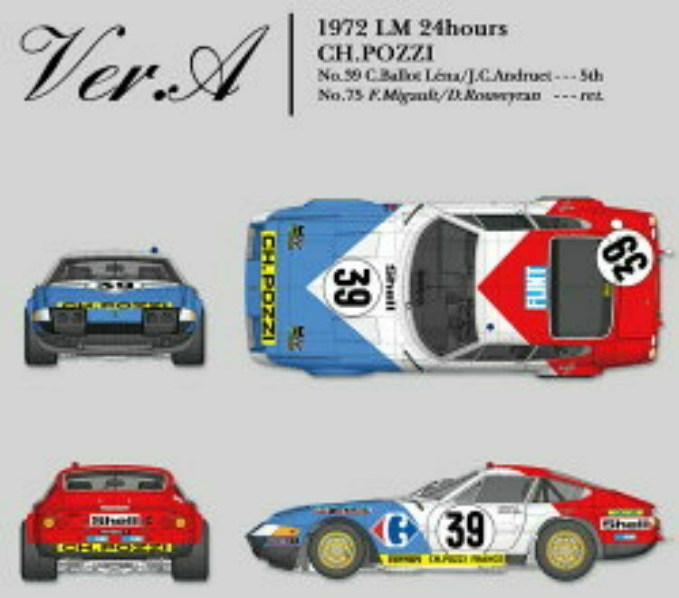 Model Factory Hiro 1/12 Ferrari 365 Gtb/4 Ver.a Lm Multi Materiale Kit K699