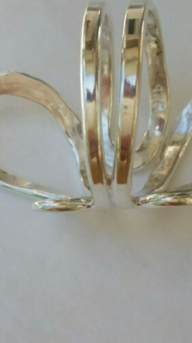 """Taxco Solid Sterling Silver 925 Hammered Butterfly Wrap Band Ring 1 3//8/"""""""