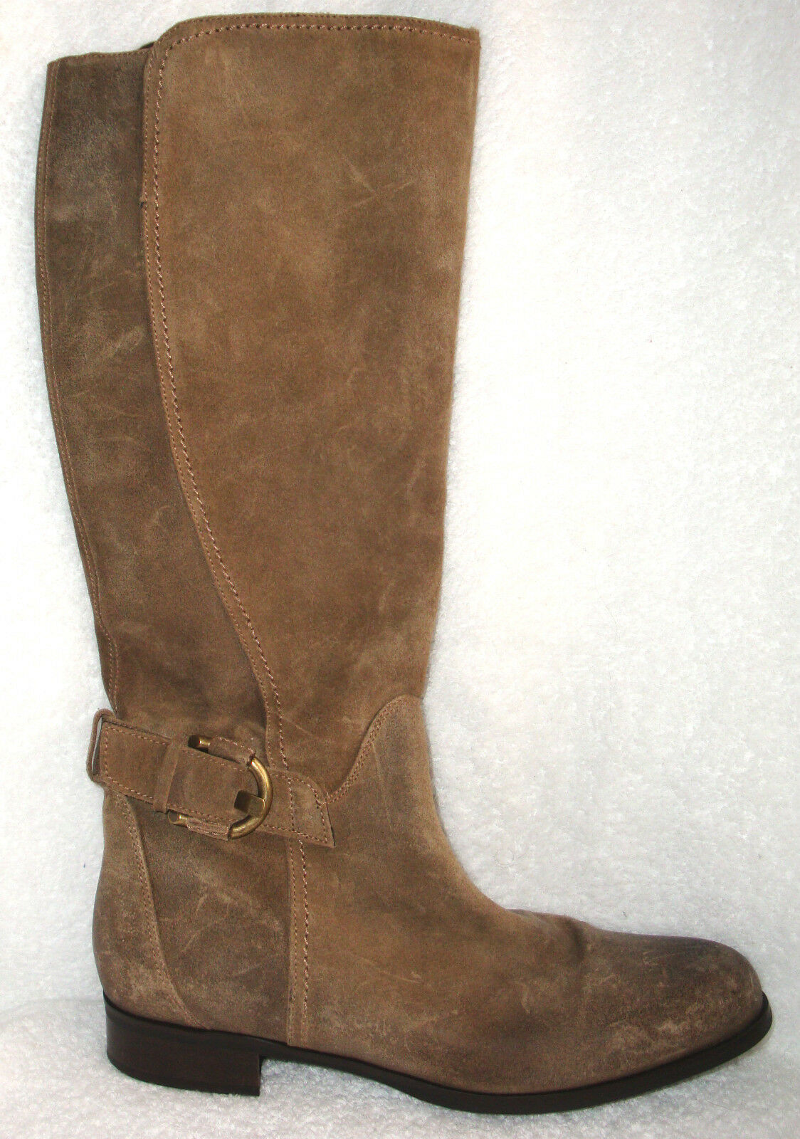 Cordani Taupe Suede Suede Leather Side Zip Tall Boots Italy 40