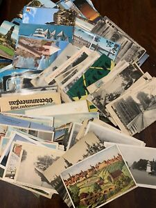 Lot-of-50-Antique-amp-Vintage-Postcards-1900s-1970s-Used-And-Unused
