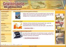 GEWINNSPIEL PORTAL WEBPROJEKT WEBSHOP VERZEICHNISS WEBSEITE WEBSITE E-LIZENZ NEU