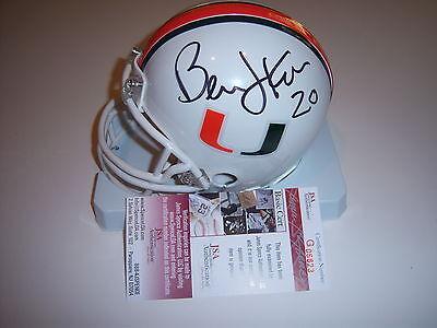 PSA//DNA Certified Bernie Kosar Signed Miami Hurricanes Mini Helmet Coa U39551