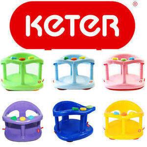 KETER Baby Bath Ring Seat Infant Tub Safety Anti Slip Chair ...