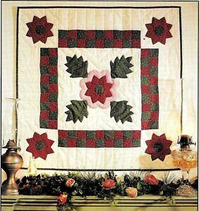 Christmas Rose Vintage Applique Wall Quilt Pattern Ebay