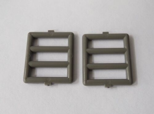 LEGO Dark Gray Ladder Jail Window Bar Bars 1 x 4 x 3 Lot of Two